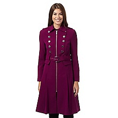 Star by Julien MacDonald - Dark pink longline drummer boy coat