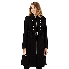 Star by Julien Macdonald - Black self tie military coat