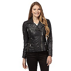 Star by Julien Macdonald - Black leather quilted jacket