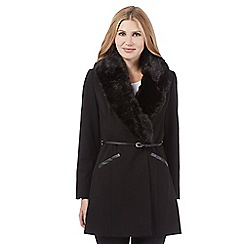 Star by Julien Macdonald - Black faux fur coat