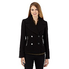 Star by Julien Macdonald - Black double breasted pea coat