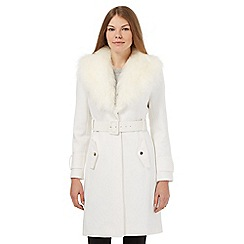 Star by Julien Macdonald - White faux fur trim coat