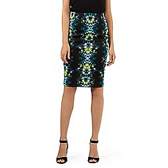 Star by Julien Macdonald - Designer black kaleidoscope print skirt
