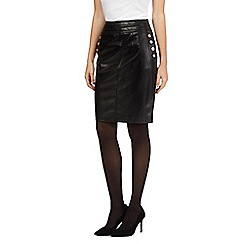 Star by Julien Macdonald - Black knee length button skirt