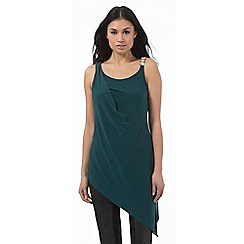 Star by Julien Macdonald - Dark green metal bar shoulder top
