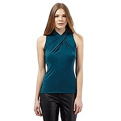 Star by Julien Macdonald - Dark green twist high neck top