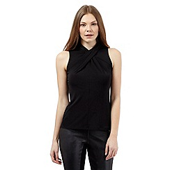 Star by Julien Macdonald - Black twist high neck top