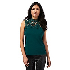 Star by Julien Macdonald - Dark green floral lace top
