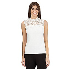 Star by Julien Macdonald - Ivory flora lace top