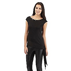 Star by Julien Macdonald - Black slash neck jersey top