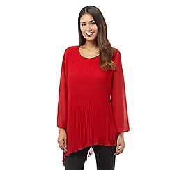 Star by Julien Macdonald - Red long sleeve pleated top