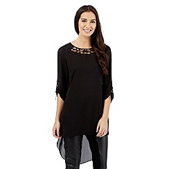 Star by Julien Macdonald - Black cutout neck dipped hem top