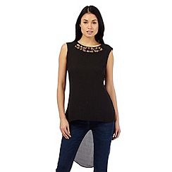 Star by Julien Macdonald - Black cutout sleeveless top