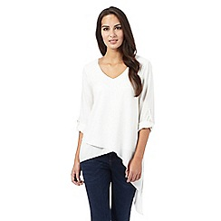 Star by Julien Macdonald - Ivory V neck blouse