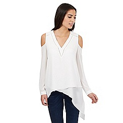 Star by Julien Macdonald - Ivory cut out shoulder asymmetric top