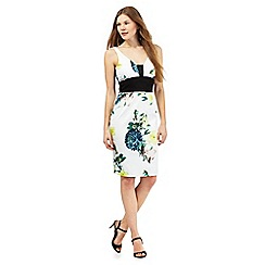 Star by Julien Macdonald - White floral print wide waistband dress