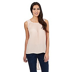 Star by Julien Macdonald - Light pink pleated front dipped hem top