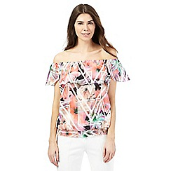 Star by Julien Macdonald - Pink printed Bardot top