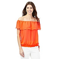 Star by Julien Macdonald - Orange Bardot top