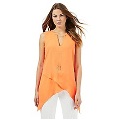 Star by Julien Macdonald - Orange asymmetric top