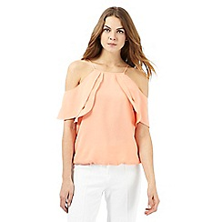Star by Julien Macdonald - Light orange ruffle top