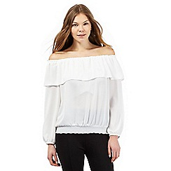 Star by Julien Macdonald - Ivory Bardot neck top