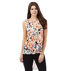 Star by Julien Macdonald - Multi-coloured floral print dipped hem top