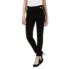 Star by Julien Macdonald - Black zip cropped trousers