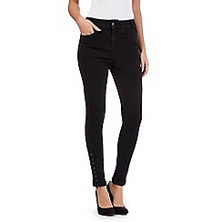 Star by Julien Macdonald - Black eyelet tie hem jeans