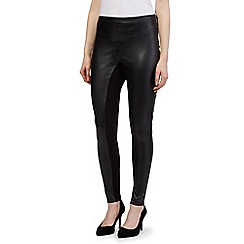 Star by Julien Macdonald - Black leatherette leggings