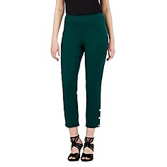 Star by Julien Macdonald - Dark green stud hem cropped trousers