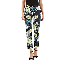 Star by Julien Macdonald - Black floral print cropped trousers