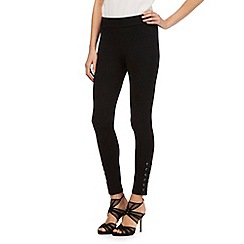 Star by Julien Macdonald - Black eyelet hem leggings