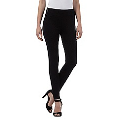 Star by Julien Macdonald - Black zip detailed leggings
