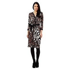 Star by Julien Macdonald - Brown animal print shirt dress