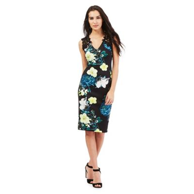Star by Julien Macdonald Black floral print dress
