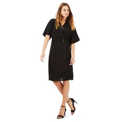 Star by Julien Macdonald Black crepe kimono dress