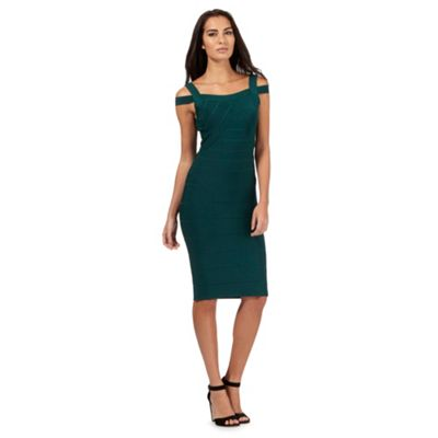 Star by Julien Macdonald Dark green bodycon dress