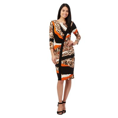 Star by Julien Macdonald Orange animal print dress