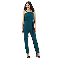 Star by Julien Macdonald - Dark green eyelet jumpsuit