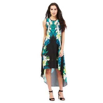 Star by Julien Macdonald Black placement floral print dress