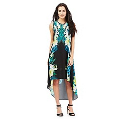 Star by Julien Macdonald - Black placement floral print dress