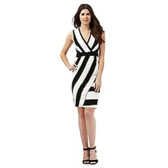 Star by Julien Macdonald - Black and white asymmetric striped dress
