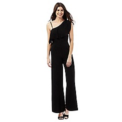 Star by Julien Macdonald - Black one shoulder jumpsuit