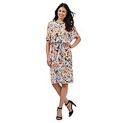Star by Julien Macdonald - Multi-coloured floral print cold shoulder dress