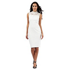 Star by Julien Macdonald - White ribbed lace neck dress