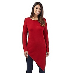 Star by Julien Macdonald - Red asymmetric jumper
