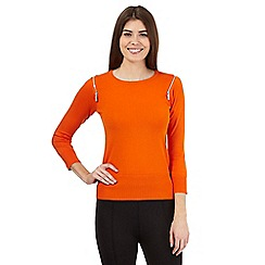 Star by Julien Macdonald - Orange zip detail jumper