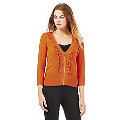 Star by Julien Macdonald - Orange ruffle cardigan