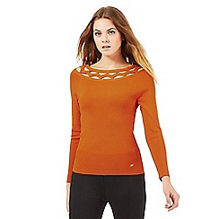 Star by Julien Macdonald - Orange cut-out neck jumper